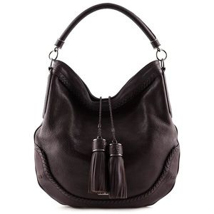 RARE🍀Burberry Hobo w/ Tassels - Pretty Plum Brown